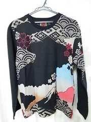 新品タグ付き!錦 にしき 桜刺繍Tシャツ 和柄 富士山