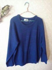 新品♪しまむら購入♪綺麗なブルーのニット♪セーター♪ゆったり4Lサイズ