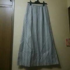 used美品★ヒッコリーロングスカート