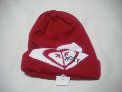 wb740 ROXY ロキシー ニット帽 ビーニー 赤