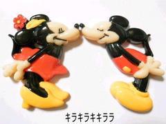 デコBIGパーツディズニー★ミッキーマウス&ミニーマウス<Kiss>2個セット