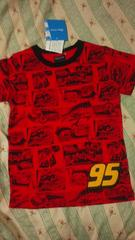 新品ディズニーカーズ半袖 Tシャツトップス赤 レッド