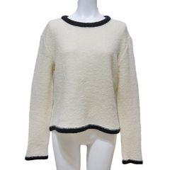 新品モスキーノ もこもこセーター 白 #40 MOSCHINO