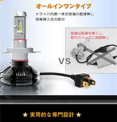 PHILIPS X3一体型LEDヘッドライト H4 hi/lo 25w 3色変更可