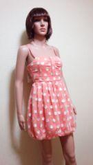 新品タグ付☆Yoko.Morimoto☆水玉バルーンのドレス☆3点で即落☆