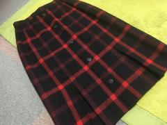 赤黒チェックのあったかスカート☆