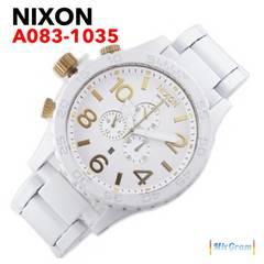 ニクソン 51-30 A083-1035 ホワイト×ゴールド メンズ腕時計