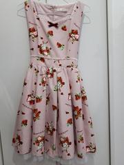 アンクルージュいちご柄フリル リボンワンピース ピンク