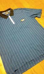 FILAストライプ 白 ポロシャツ サイズ2XL→XL位スリムフィット 新品未使用品