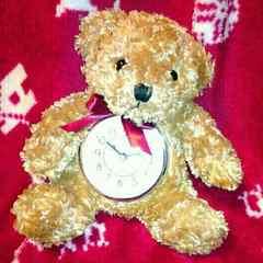新品 可愛い テディベア 置時計 くま クマ 熊 ぬいぐるみ 時計