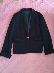 黒テーラードシングルジャケット新品タグなし