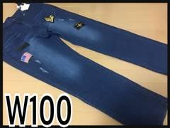 W100・ワッペン使いストレッチデニム新品/MCF-712