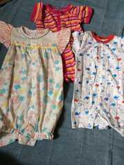 女の子用ベビー服3枚セット!