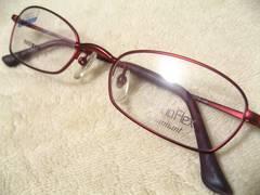 世界最高シャルマンのレディース眼鏡フレーム.形状記憶チタン.極上レッドメタリックカラー