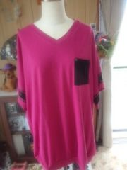 新品3LバックロゴドルマンTシャツ