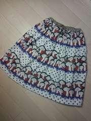 .●UNICA● キノコ柄スカート M105-115