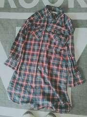 URBAN RESEARCH チェックロングシャツ