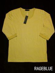 □RAGEBLUE/レイジブルー 七分袖 ボーダーTシャツ・カットソー/メンズ☆新品