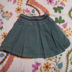 キッズBEBE/ベベグリーン プリーツ スカート 110�p