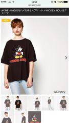 moussyミッキーTシャツ