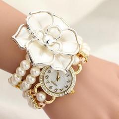 新品未使用姫系女子力upBIGカメリアブレスレット腕時計