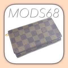 ◆ルイ・ヴィトン◆USED良好◆ダミエL字ファスナー財布◆