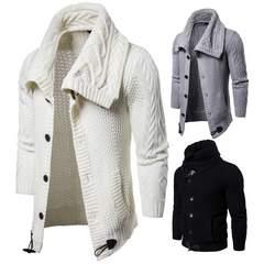 上品質 メンズカーデ セーター ニット 羽織 暖かい 柔らか M~2XL