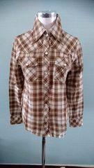 美品 薄手ネルシャツ チェック L 羽織り 重ね着 美スタイル 長袖