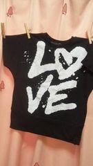 新品◆ドルマンTシャツ160◆前後ロゴプリント半袖