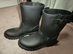 新品 Mサイズ 長靴 レインシューズ 黒 ブラック