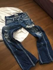 【RODEOCROWN】XS色落ちヒゲ加工絶妙ゆるくたジーンズ