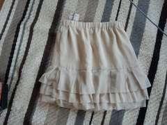 ベージュ新品 ミニスカート サイズ2