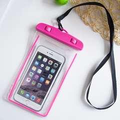 夜光 スマホ 防水ケース ピンク 防水ポーチ スマホケース 携帯