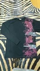 和柄 鯉×蓮 ラメラメ ロンTシャツ