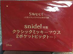 ☆snidel特製☆クラシックミッキー☆2ポケットビッグトート☆