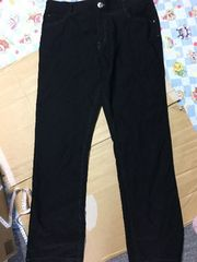 大きいサイズ 黒ズボン ウエスト84