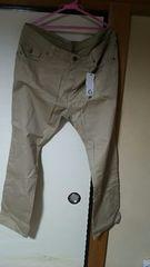チノパン系パンツ大きいサイズ☆新品未使用品タグ付きズボン。