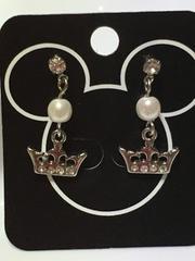 Disney プリンセス 王冠 クリスタル付き ピアス シルバー DP#07