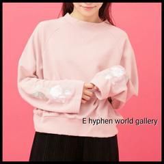 〇E hyphen world gallery〇2017'  刺繍スウェットプルオーバー