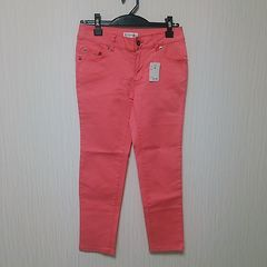 新品 ストレッチ 半端丈 パンツ ズボン W58 ピンク