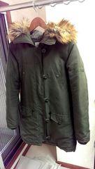 RODEO CROWNS ミリタリーファージャケット N3B カーキ 袖刺繍