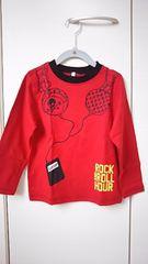 新品 キッズ 長袖Tシャツ 赤 サイズ110
