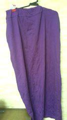 お買い得品ロングスカートパープルLサイズ