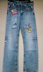 ワッペンused加工のジーンズ