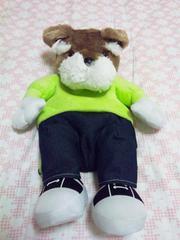 【かわいい犬☆リュック】グリーン系☆新品☆頭~足 約43cm☆