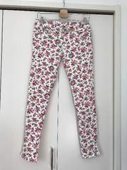 新品 花柄 ストレッチ スキニー パンツ 大きいサイズ