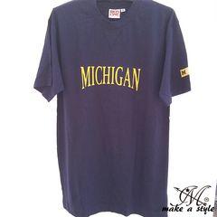 NCAA ミシガン ウォルバリンズ Tシャツ TEE 刺繍 441 L