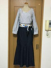 マキシ丈 デニム素材のマーメイドスカート♪美品