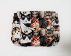 ◆猫猫猫クラシカルキャット◆猫の集い◆被せ蓋ポーチ