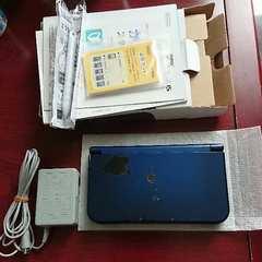 new NINTENDO 3DS LL 本体 メタリックブルー 付属品 セット